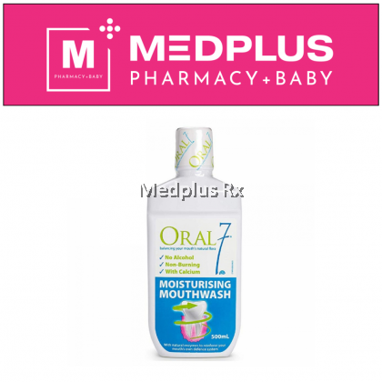 Oral 7 Moisturising Mouthwash 500ml (Exp 01/2021)