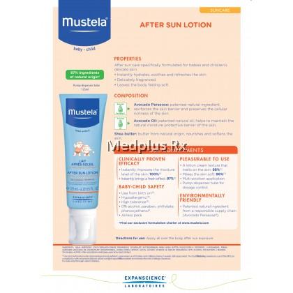 Mustela After Sun Lotion 125ml (Exp 02/2021)