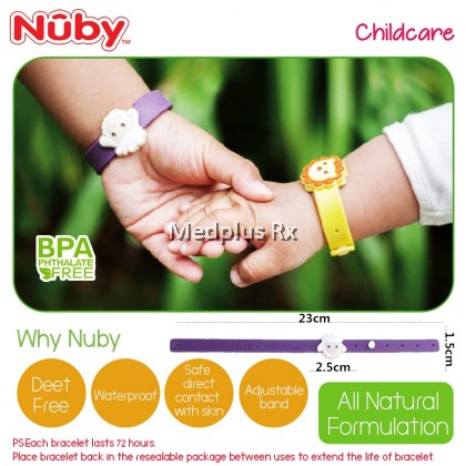 Nuby Insect Repellent Wrist Band with Charm (2pcs) NB78081 - Random