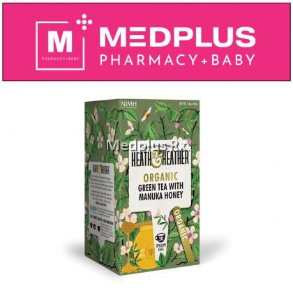 Heath & Heather Organic Green Tea with Manuka Honey (20 sachets) Exp 09/2022